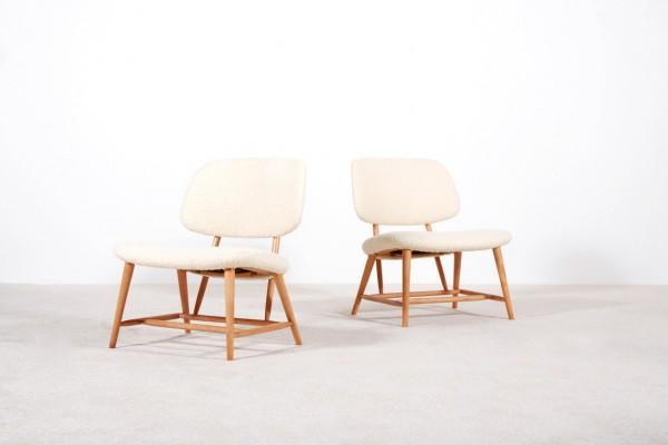 alf svensson armchairs sweden wool  studio vintage 1950 1960