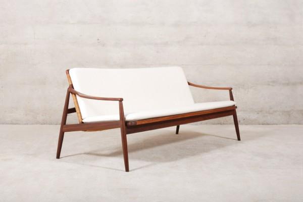 lohmeyer wilkhahn sofa teak cane kvadrat vintage retro 1950