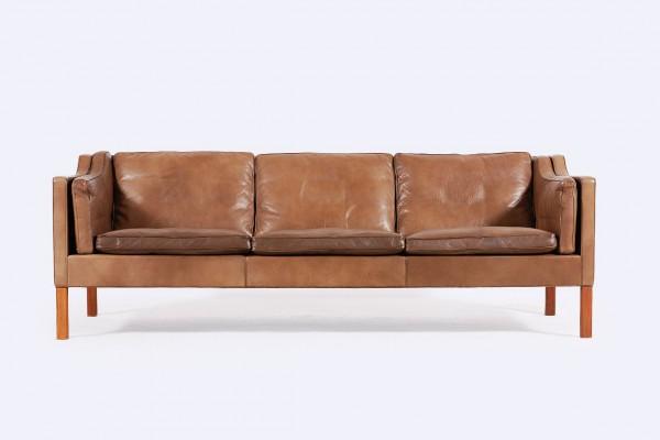 canapé borge mogensen cuir marron 2213 danois fredericia