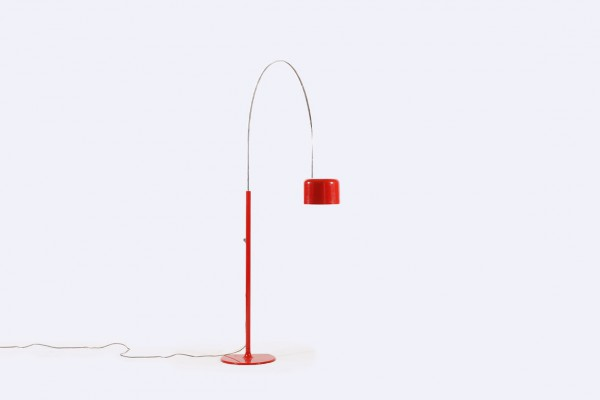 joe colombo lampadaire coupé oluce rouge lampe 1967 1968