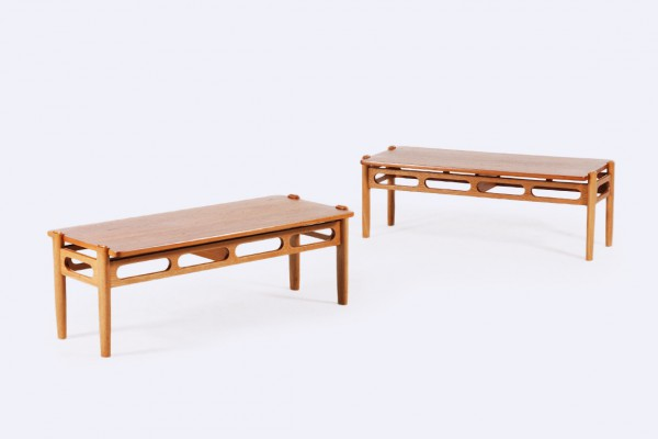 william watting banc table teck chêne danois laursen 1950