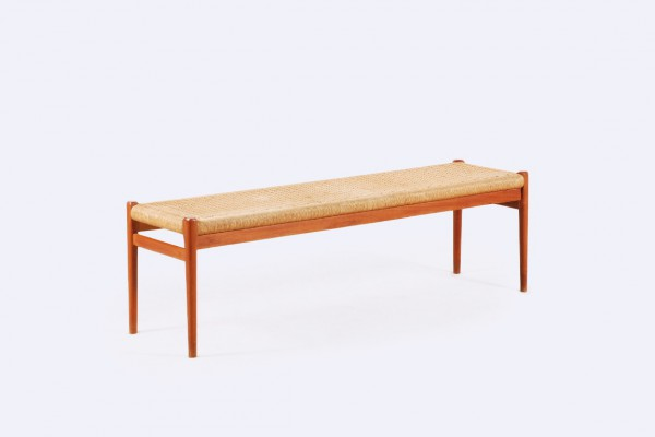 niels otto moller banc teck cannage scandinave 63 1960