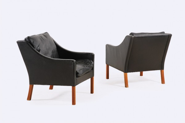 borge mogensen fredericia furniture 2207 armchair leather