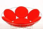 verner panton peacock fauteuil rouge acier plus linje 1960